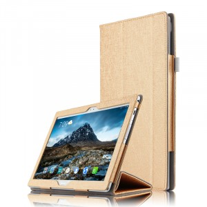 Сегментарный чехол книжка подставка текстура Линии с рамочной защитой экрана для Lenovo Tab 4 10 Plus