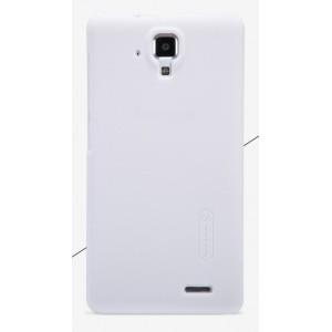 Пластиковый матовый нескользящий премиум чехол для Lenovo A536 Ideaphone Белый