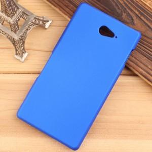 Пластиковый матовый непрозрачный чехол для Sony Xperia M2 Aqua Синий