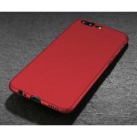 Пластиковый непрозрачный матовый чехол с повышенной шероховатостью для OnePlus 5 Красный