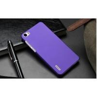 Пластиковый матовый непрозрачный чехол для Huawei Honor 6 Фиолетовый