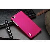 Пластиковый матовый непрозрачный чехол для Huawei Honor 6 Пурпурный