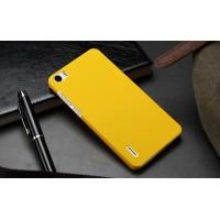 Пластиковый матовый непрозрачный чехол для Huawei Honor 6 Желтый