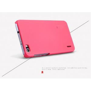 Пластиковый премиум матовый нескользящий чехол для Huawei Honor 6 Розовый