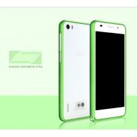 Металлический алюминиевый бампер для Huawei Honor 6 Зеленый