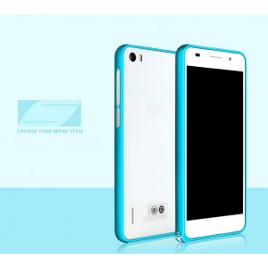 Металлический алюминиевый бампер для Huawei Honor 6 Голубой
