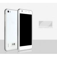Металлический алюминиевый бампер для Huawei Honor 6 Белый