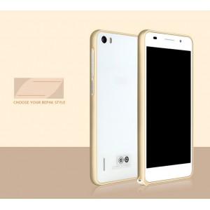 Металлический алюминиевый бампер для Huawei Honor 6 Бежевый