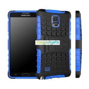 Силиконовый чехол экстрим защита для Samsung Galaxy Note 4 Синий