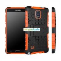 Силиконовый чехол экстрим защита для Samsung Galaxy Note 4 Оранжевый