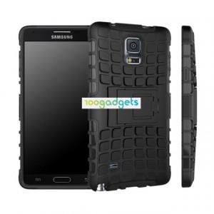 Силиконовый чехол экстрим защита для Samsung Galaxy Note 4 Черный