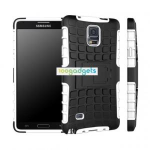 Силиконовый чехол экстрим защита для Samsung Galaxy Note 4 Белый