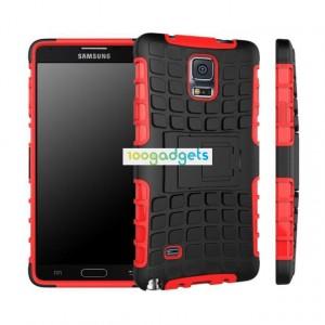 Силиконовый чехол экстрим защита для Samsung Galaxy Note 4 Красный