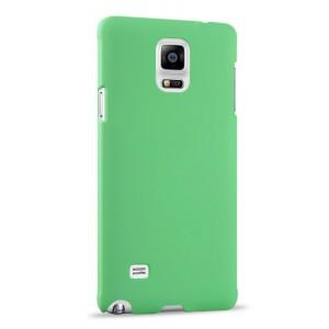 Пластиковый матовый непрозрачный чехол для Samsung Galaxy Note 4 Зеленый