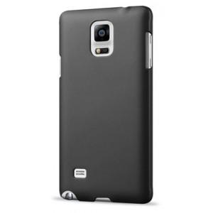 Пластиковый матовый непрозрачный чехол для Samsung Galaxy Note 4 Черный