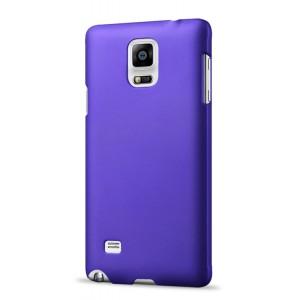 Пластиковый матовый непрозрачный чехол для Samsung Galaxy Note 4 Фиолетовый