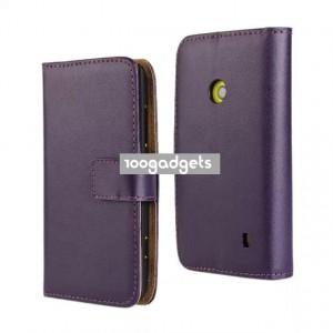Чехол портмоне подставка с защелкой для Nokia Lumia 520 Фиолетовый