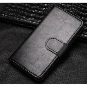 Чехол горизонтальная книжка на клеевой основе на магнитной защелке для Elephone S8 Черный