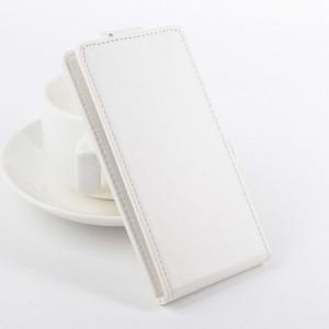 Чехол вертикальная книжка на клеевой основе на магнитной защелке для Elephone P8 Mini Белый
