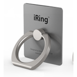 Матовое металлическое антиграбежное клеевое кольцо-подставка текстура Металлик для одноручного управления гаджетом