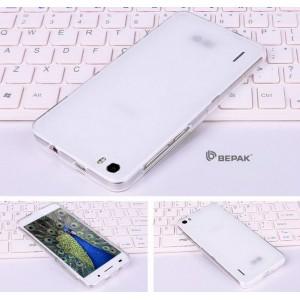 Силиконовый полупрозрачный чехол для Huawei Honor 6 Белый
