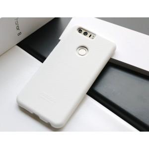 Силиконовый матовый непрозрачный чехол премиум софт-тач для Huawei Honor 8 Белый