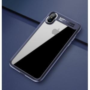 Силиконовый матовый полупрозрачный чехол для Iphone X 10/XS Синий