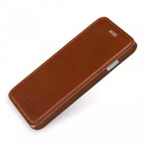 Кожаный чехол горизонтальная книжка (нат. кожа с вощеным покрытием) для Iphone 6