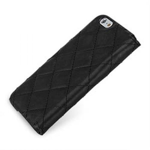 Кожаный чехол портмоне (нат. кожа с вощеным покрытием) с декоративной прошивкой ручной работы для Iphone 6