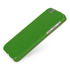 Кожаный чехол вертикальная книжка (нат. кожа) для Iphone 6