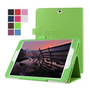 Чехол книжка подставка с рамочной защитой экрана с крепежом для стилуса для Samsung Galaxy Tab S2 8.0 Зеленый