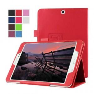 Чехол книжка подставка с рамочной защитой экрана с крепежом для стилуса для Samsung Galaxy Tab S2 8.0 Красный