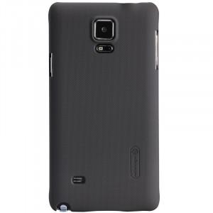 Пластиковый матовый нескользящий премиум чехол для Samsung Galaxy Note 4 Коричневый