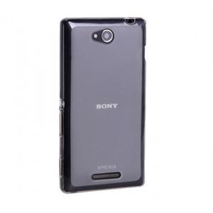 Силиконовый матовый полупрозрачный чехол для Sony Xperia C Серый