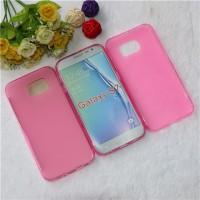 Силиконовый матовый полупрозрачный чехол для Samsung Galaxy S7 Розовый