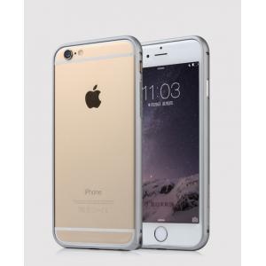 Металлический закругленный бампер для Iphone 6 Plus Серый