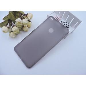 Силиконовый матовый полупрозрачный чехол для Xiaomi Mi Max 2 Черный