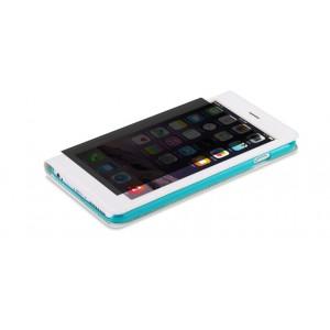 Эксклюзивный чехол флип на пластиковой основе с полноразмерным окном вызова и антишпионской пленкой для Iphone 6 Plus Белый