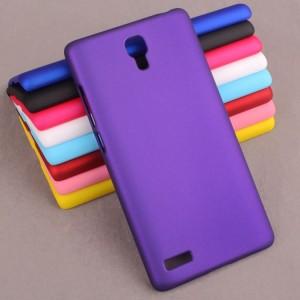 Пластиковый матовый непрозрачный чехол для Xiaomi RedMi Note Фиолетовый
