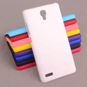 Пластиковый матовый непрозрачный чехол для Xiaomi RedMi Note Белый
