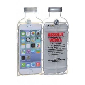 Силиконовый дизайнерский фигурный чехол серия Absolut для Iphone 6 Plus Красный