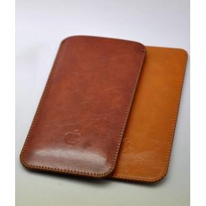 Кожаный вощеный мешок для Iphone 7 Plus/8 Plus Коричневый