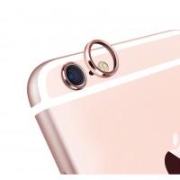 Металлическое защитное кольцо-накладка на объектив камеры для Iphone 6 Plus Розовый
