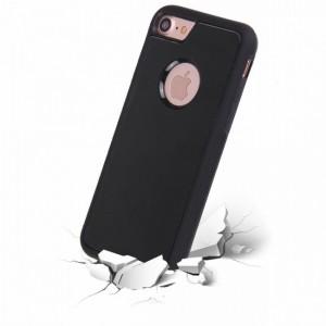 Эксклюзивный двухкомпонентный противоударный чехол силикон/поликарбонат с липучей задней поверхностью для Iphone 6 Plus/6s Plus Черный