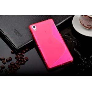 Силиконовый чехол S для Sony Xperia Z1 Розовый