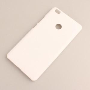 Пластиковый непрозрачный матовый чехол для Xiaomi Mi Max Белый