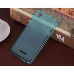 Силиконовый матовый полупрозрачный чехол для Sony Xperia M5 Синий