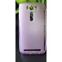 Силиконовый матовый полупрозрачный чехол для ASUS Zenfone 2 Laser 5 ZE500KL Розовый