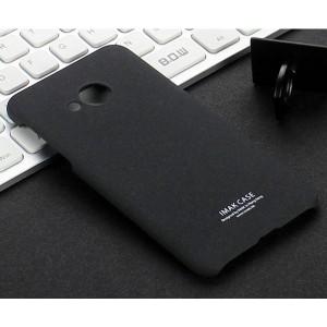 Пластиковый непрозрачный матовый нескользящий премиум чехол с повышенной шероховатостью для HTC U Play Черный