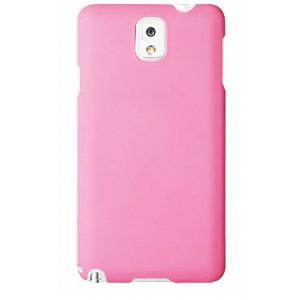 Пластиковый матовый чехол для Samsung Galaxy Note 3 Розовый